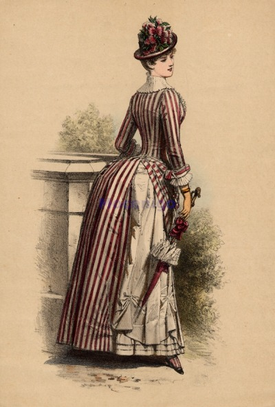 oldrags:  Walking dress, 1880's