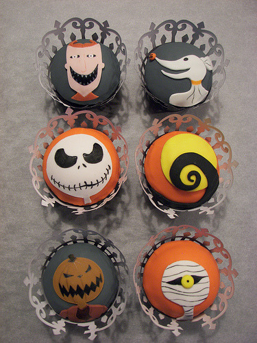cupcakemania-:  The Nightmare Before Christmas Cupcakes