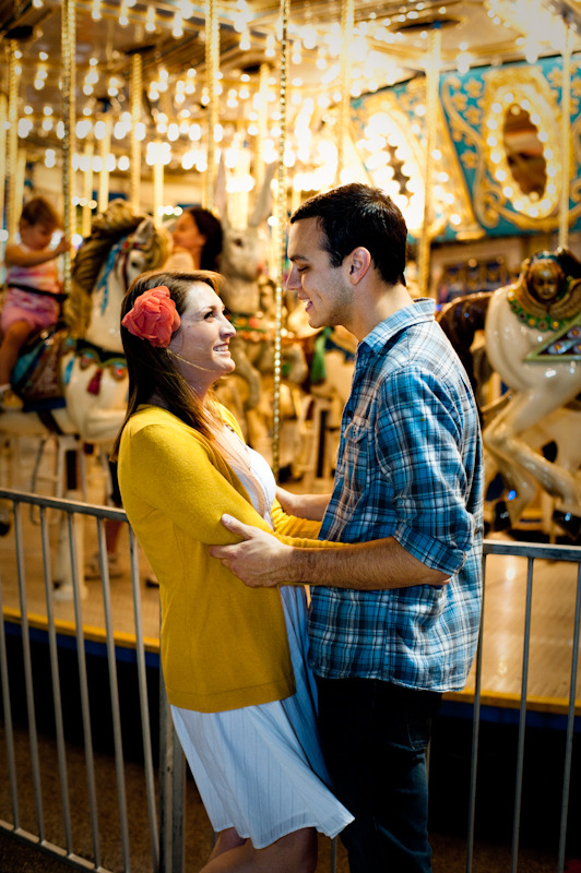 Davey and Cassie at the carousel