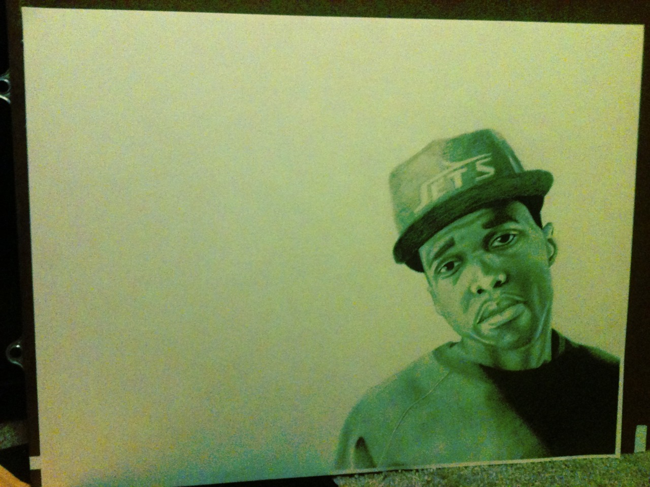 "allthingscurrensy:  My Curren$y drawing. Graphite 24""x18"" http://local-lalo.tumblr.com/"