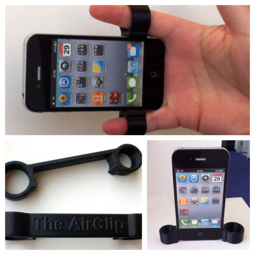 Steady Up Those iPhone Camera Shots The AirClip iPhone Camera Grip.  One of those quirky inventions you wish you would have thought of.   [Technabob]