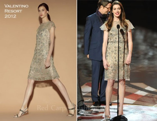 Anne Hathaway In Valentino – Spike TV's Scream 2011 Awards