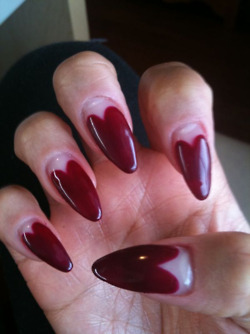 Yo….these nails, though?!? ieatthose:  BLOOD