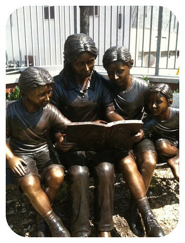 reading a book: sculpture at the Southeast Anchor Library by Enoch Pratt Free Library on Flickr.