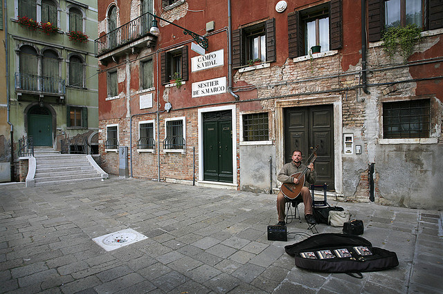 | ♕ |  Mandolin serenade for the tourists in Venice  | by © Tony Triolo