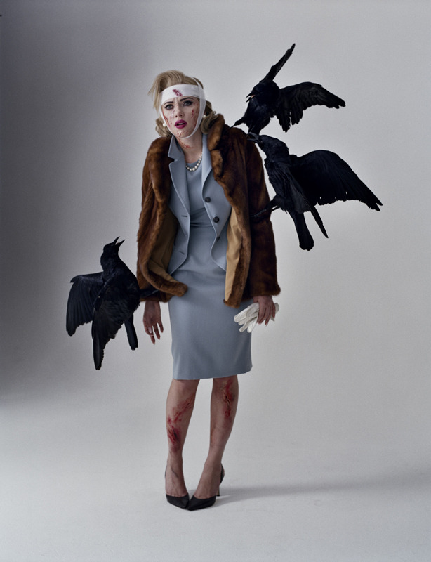 Scarlett Johansson as Tippi Hedren in The Birds by Tim Walker