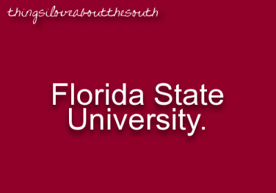 #thingsiloveaboutthesouth … FSU! Can't wait for my visit :)