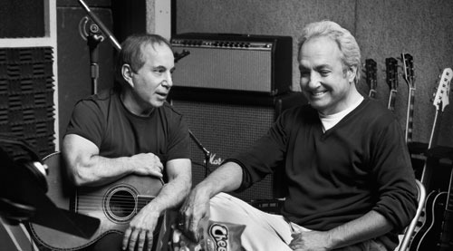 Paul Simon and Lorne Michaels