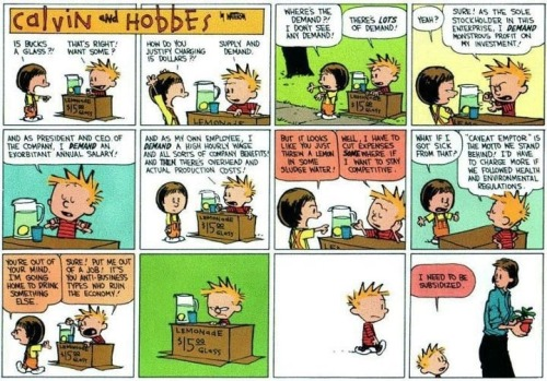 Decades-old Calvin & Hobbes strip succinctly explains the Occupy Wall Street movement.
