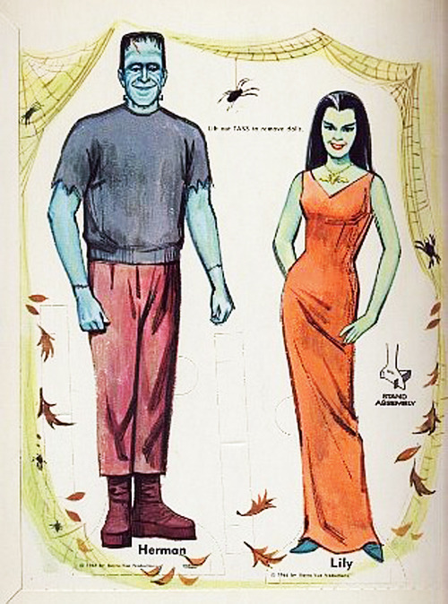 The Munsters paper dolls c. 1966