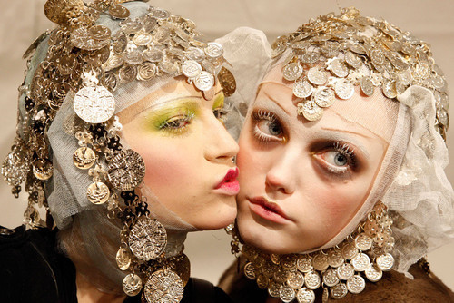 somethingvain:  Anabela Belikova and Vlada Rolsyakova for John Galliano