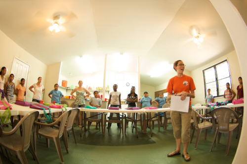 A Peace Corps Education Volunteer in Belize works as camp counselor for a young girls education summer camp called Camp GLOW.