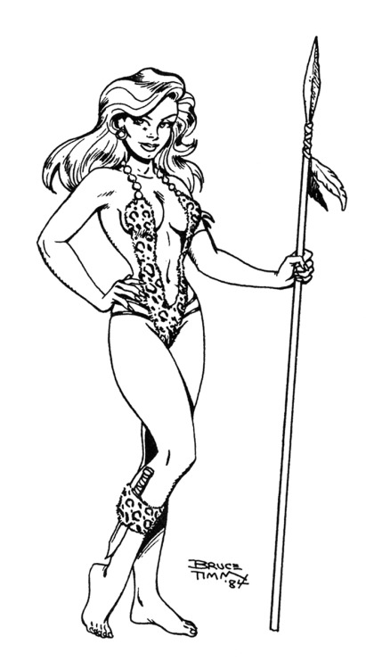 Shanna the She-Devil: early Bruce Timm illustration, 1984.