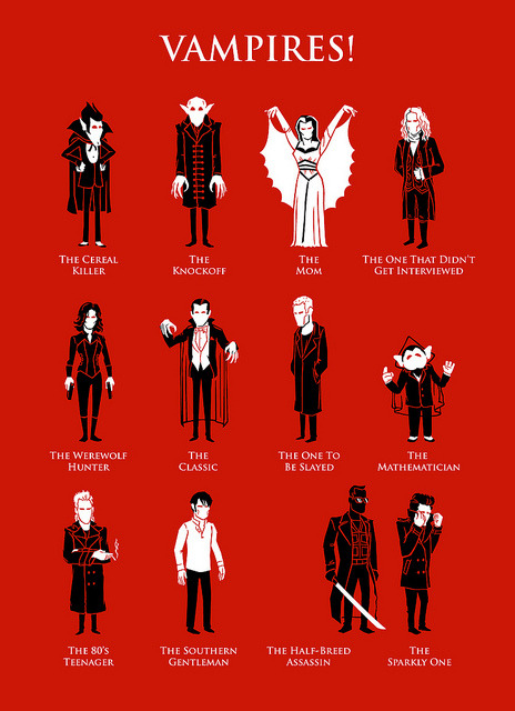 zuppadivetro:  fumettimarvel:  ianbrooks:  Vampires by Ben Douglass Can you name all of these famous blood suckers? My favorite is the one that didnt get interviewed because that dude had some serious style (when he wasnt being played by Tom Cruise). Artist: flickr / website (via Ben's tumblr: bendouglass)  .  -  Just 6 of them.. wanna help?