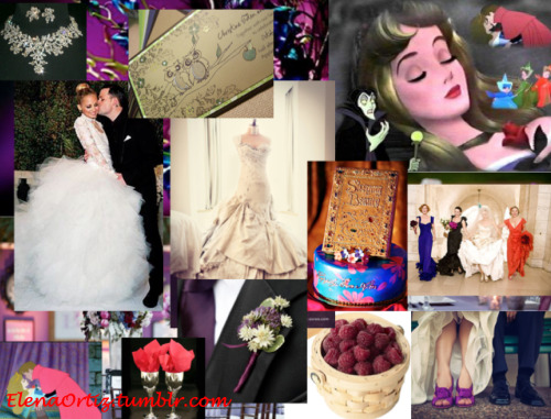 Disney's Sleeping Beauty Wedding Inspiration Board Made by me, Elena Ortiz For more, visit ElenaOrtiz.tumblr.com