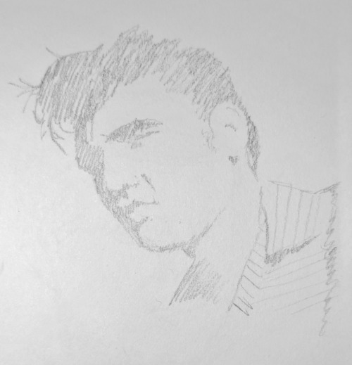 Got bored so doodled Elvis