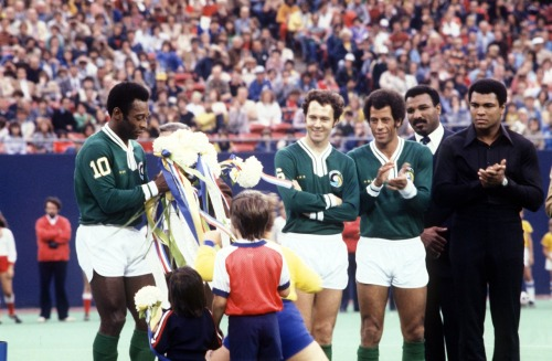 interleaning:  Before Pele's final match, 1977.