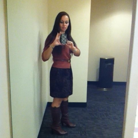 This is one of my fall looks for less. Banana republic boots bought on sale 3 years ago for 49.99! What a bargain!!  (Taken with Pose)