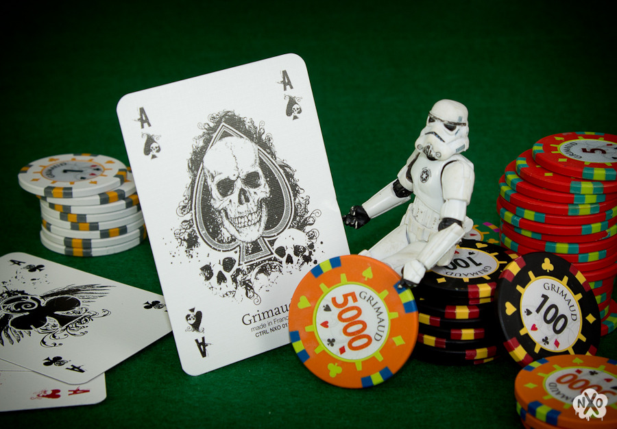 Stormtrooper playing poker with best cards of the universe… NXO - http://nxolab.tumblr.com/