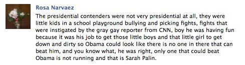 """fights that were instigated by the gray gay reporter from CNN"" Oh, boy."