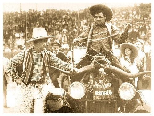 Yahoo! It's Cowboys Babe & Lou! 1928 World Series Of Rodeo - Dexter Park - Brooklyn, N.Y.