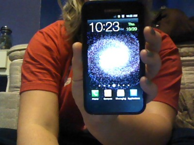 I got a new phone yesterday; the Samsung Epic Touch 4G. It's probably the best fucking phone ever. It has a HUGE screen, more space than my old phone (I used to have the Zio), an 8 megapixel camera as well as a back and front facing camera. And of course all the other cool features androids have. When I told the guy at Sprint what phone I used to have, he laughed and said he's surprised it lasted me as long as it did because it's a piece of shiiiit. Anyway, if you have Sprint, I highly recommend this phone.
