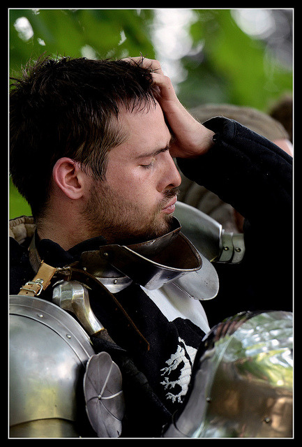 medievallove:  Knight, Anvers medieval fair, Belgium. by piggy2007b on Flickr.   In my Renn Faire experience, the knights do not look like this.  I think I need to move to Belgium.