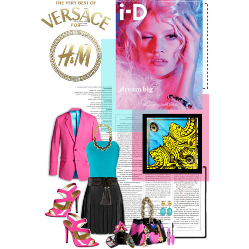 Versace for H&M Contest 1 by fildarina featuring link jewelry