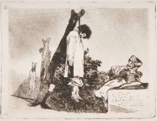 "theatlantic:  3rdofmay:  The art: Goya, Not This Time Either (Tampoco), from ""The Disasters of War,"" working proof for plate 36, 1810-1814. The news: ""Qadaffi is Dead,"" a running roundup of news, links and pictures at The Atlantic Wire.  The source: Collection of the Metropolitan Museum of Art, New York.  Today, in reasons we love 3rdofMay."