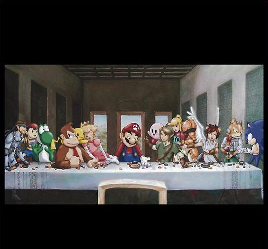 insanelygaming:  Gamings Last Supper - via Woodrich