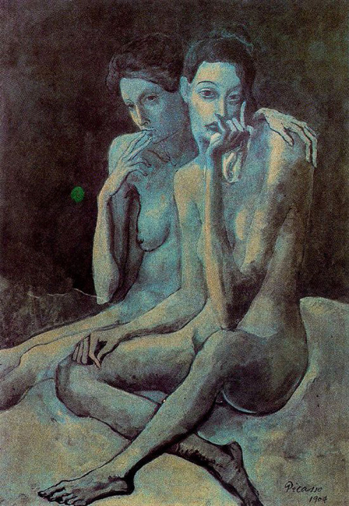"""Two Friends"", Picasso, c.1904 (via vulturechow:)"