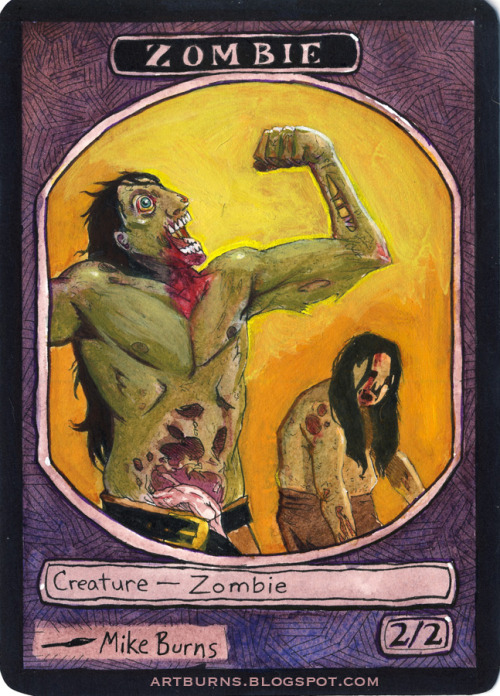 2/2 Black Birthday Zombie Token Learn more about this piece HERE