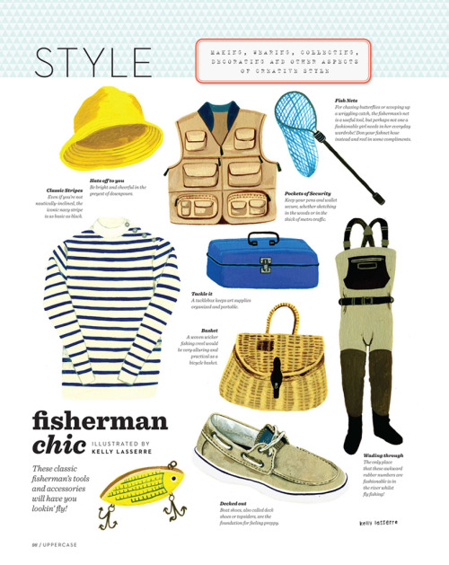 illustration in the style section of issue #11 of canadian based UPPERCASE magazine.