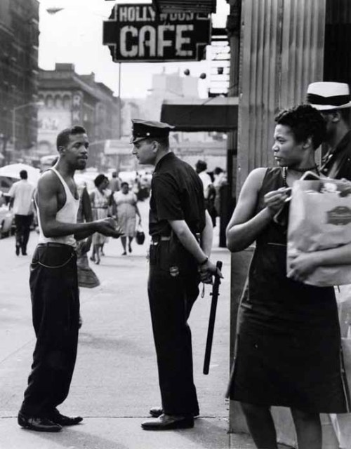 oldnewyork:  Lenox Avenue and 116th Street. Harlem. Early 1960s, by Shawn Walker