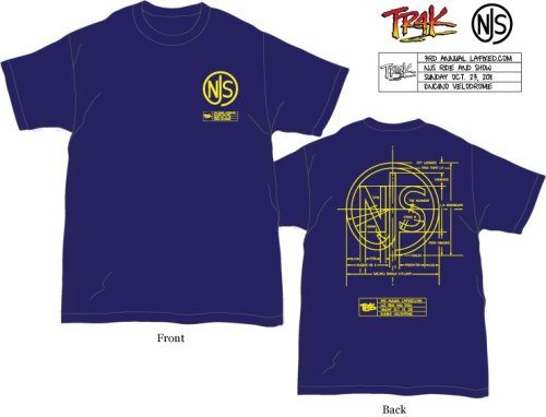 TR4K x NJS TEES   Exclusive t-shirts vailable at the NJS Bike Show this Sunday at Encino Velodrome.  All proceeds will go to Encino Velodrome so make sure to bring some cash.