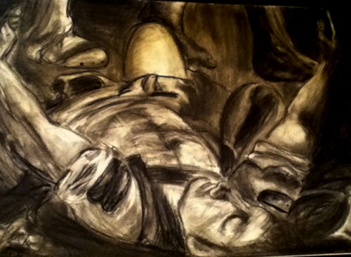 Variation two charcoal.  Conversion of Paul. Caravaggio. Boom.
