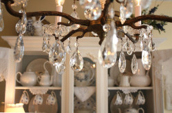 Vintage crystal chandelier by Romantic Home on Flickr.