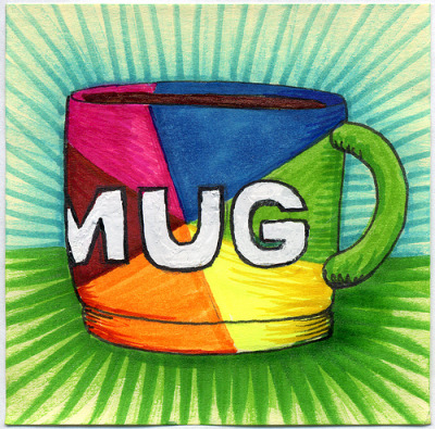 "I drew you a meme mug of coffee See what I did there? I hope you like it. This is part of my ""The Daily Coffee"" marker drawing series"