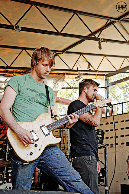 Brendan Ekstrom and Anthony Green of Circa Survive on Flickr. Sound check Austin, TX 10-12-11  Go like my photo page!