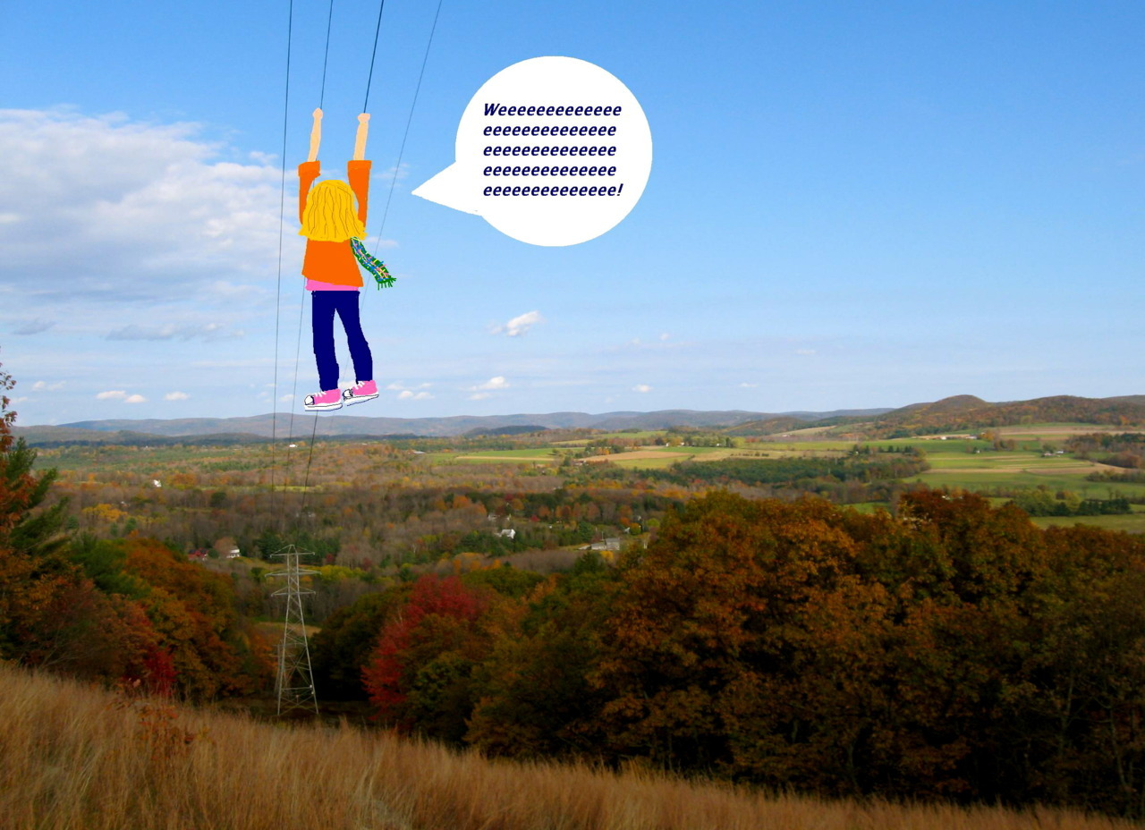 Powerline Zipline (My fantasy for my upcoming weekend in the wilderness)
