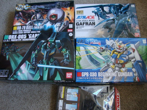 Gunpla Times! Excellent mail day if you ask me! Can't wait to build these babies.