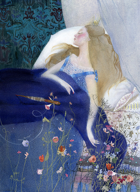 "fairytalemood:  ""Sleeping Beauty"" by Nadezhda Illarionova"