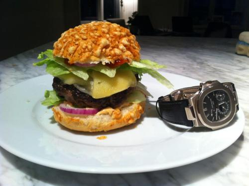 My cousin made home made burgers and figured it was The Watchs worthy. Agreed.