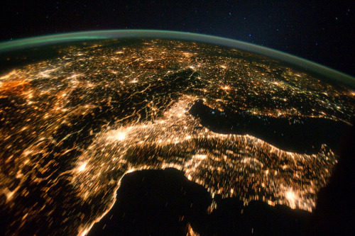 Central and Eastern Europe at Night (NASA, International Space Station, 10/02/11) by NASA's Marshall Space Flight Center on Flickr.
