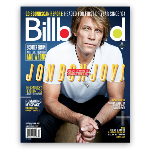 "In this week's cover story, Jon Bon Jovi gets intimate. He talks family, his never-ending world tours (which have grossed nearly $1 billion since the turn of the century), and inspiration. Apparently Jersey boys stick together: ""I came home and said to Richie [Sambora, Bon Jovi guitarist], 'I want to be Frank Sinatra. I'm going  to make movies here, I'm going to make music there, I'm going to run the  business here. This is the way it's going to be,'"" Jon recalls. ""It's  the Sinatra kind of vision. He got a president elected. He did  incredible things for civil rights at the time. He was making movies,  music, and he was doing it the way he wanted to do it. Frankie said, 'I  did it my way,' that beauty of that honest lyric. The people who related  to that song found Frankie in themselves. It was an incredibly  empowering lyric — it empowered me. That's what happens when you hit on a  lyric that's honest and true."""