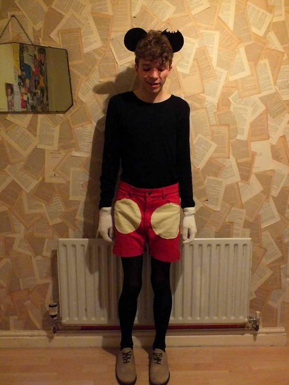 This is me in my Mickey Mouse costume I made.  sc 1 st  curlywurlyboy & Luke Heywood u2014 This is me in my Mickey Mouse costume I made. ...