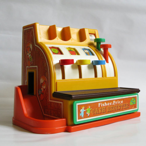 imremembering:  Fisher Price Cash Register Source: Etsy  Loooove.