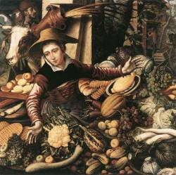 Market Woman with Vegetable Stall, Pieter Aertsen, 1567