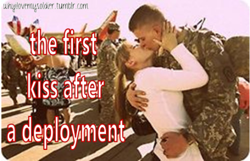 the first kiss after a deployment