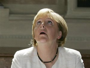 Angela Merkel got a 99 flake but then a seagull took the flake and now she's wondering if it would be unacceptable to eat the ice cream…
